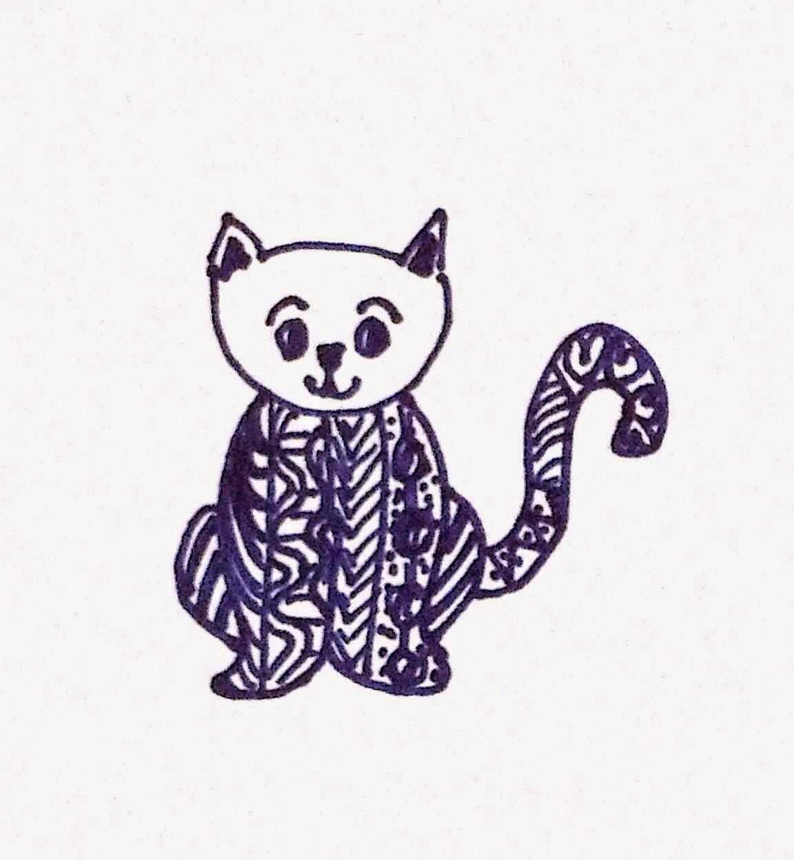 Zentangle Inspired Cat