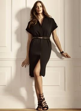 Violeta by Mango vestido negro tallas grandes