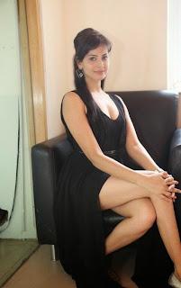 Actress Supriya Sailaja Latest  Pictures in Black Dress at BIG FM  0089