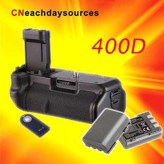 Battery Grip for Canon 400D 350D XT Xti BG-E3+2 NB-2LH+ RC-5