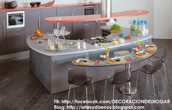 Diseño de Cocinas con Barras Originales y Funcionales