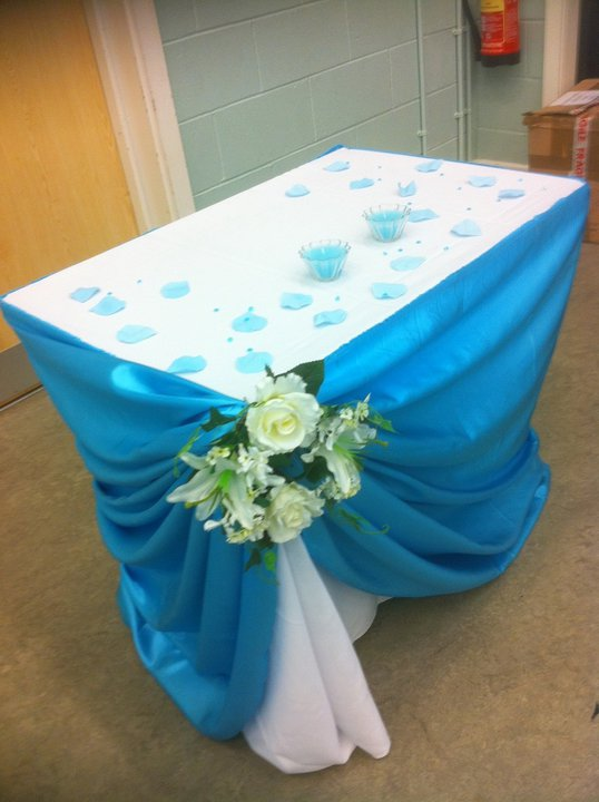 Doris decoration and cakes turquoise wedding decoration - Turquoise decorations for home ...