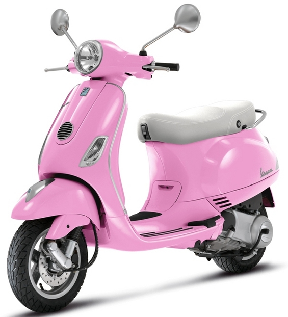 Vespa Scooter Pink Colour Price