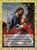 NUESTRO PADRE Y SEÑOR SAN JOSÉ (Toque sobre la imagen)