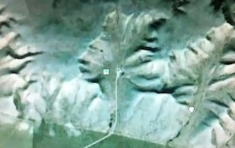 ALIEN FACE DISCOVERED ON GOOGLE EARTH IN CANADA!!!