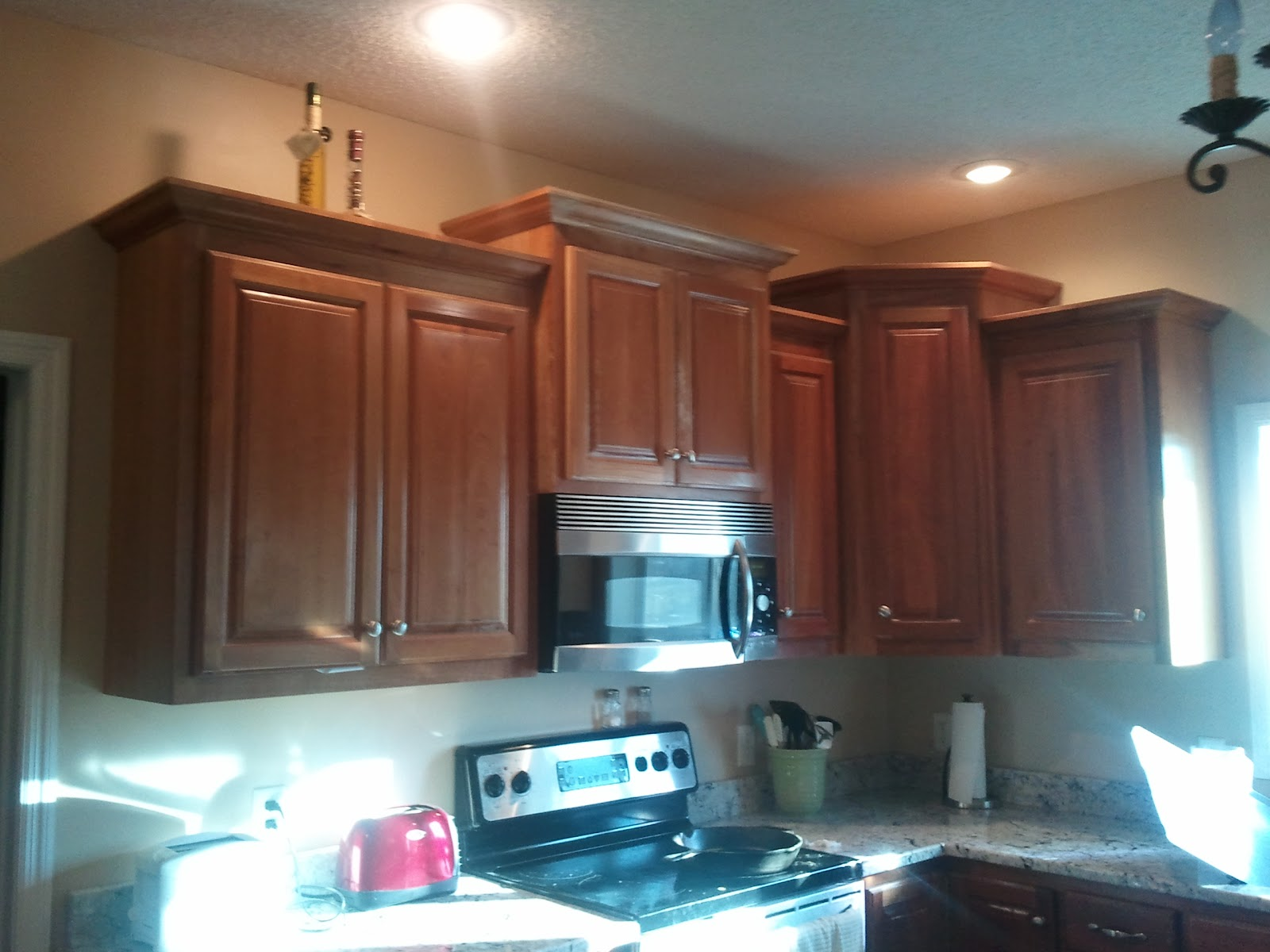 Cherry Finish Kitchen Cabinets