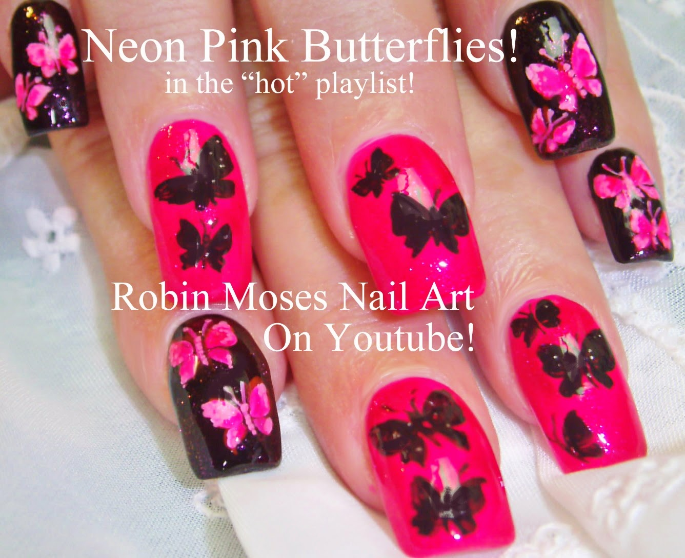 Robin moses nail art butterfly nails nails nail art nailart butterfly nails nails nail art nailart neon butterflies butterfly ideas pink butterflies pink butterfly nails butterfly nail art how to do it prinsesfo Choice Image