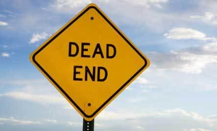 5 Signs You're Dating the Wrong Person - dead end sign end of the road