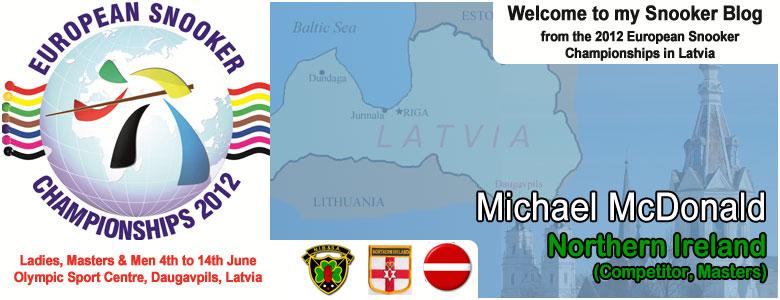 European Snooker Championships 2012 - Daugavpils, Latvia