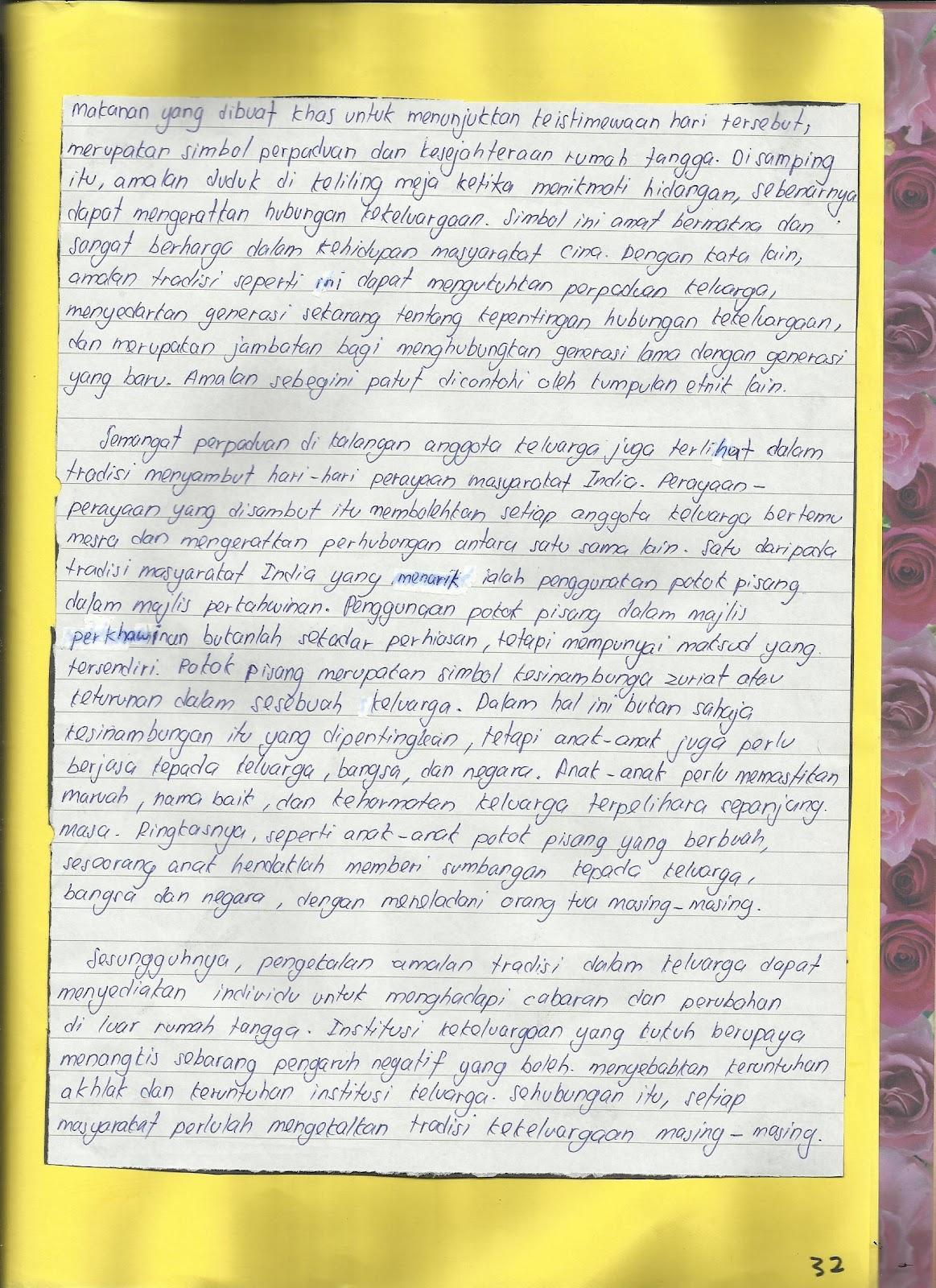 Contoh Tugasan Harian Pendidikan Moral Tingkatan 4