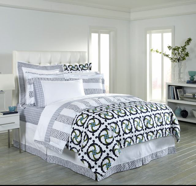 COCOCOZY Katie navy white bed bedding linens duvet cover sheets sheet shams sham decor decorate bedroom home design