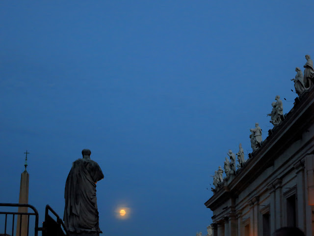 St. Peter's Square at Night
