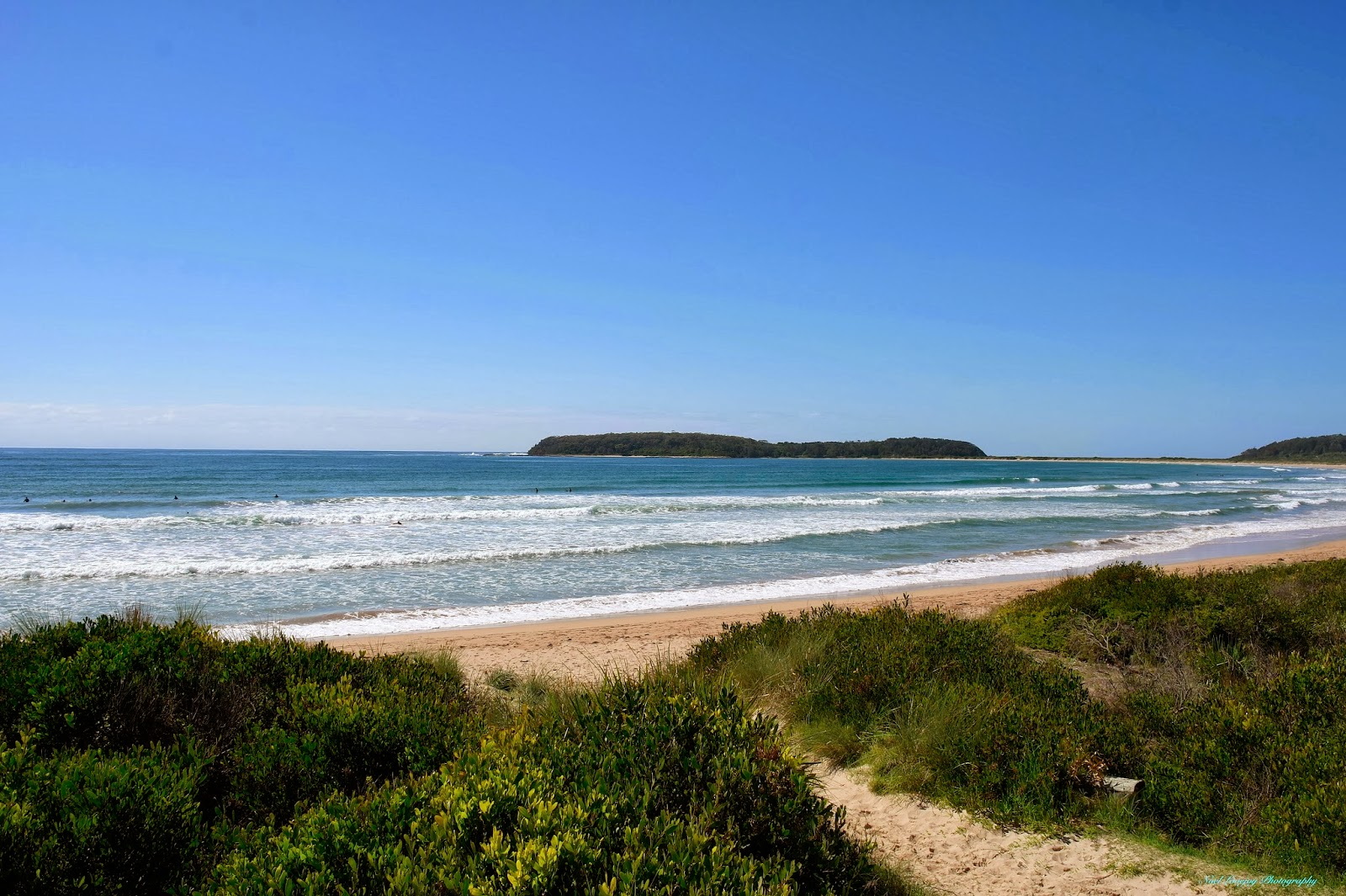 Moruya Australia  city photos gallery : Broulee North Beach, plenty of Surfers here but not much wave action ...