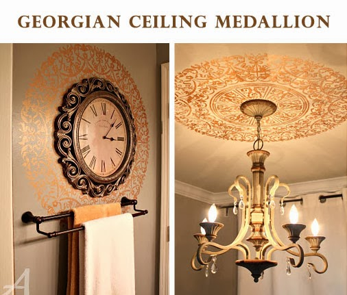 Luxury Stencilled ceiling wall medallions by Ask Anna