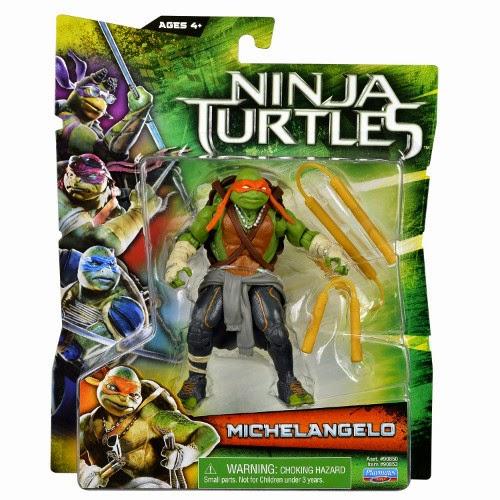 TOYS : JUGUETES - LAS TORTUGAS NINJA   Figura | Muñeco Michelangelo  Ninja Turtles La Película : Movie | Producto Oficial 2014  A partir de 4 años