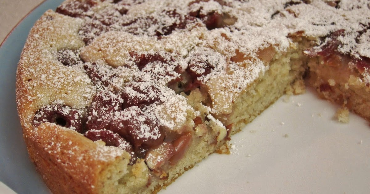 Cherry Almond Paste Coffee Cake