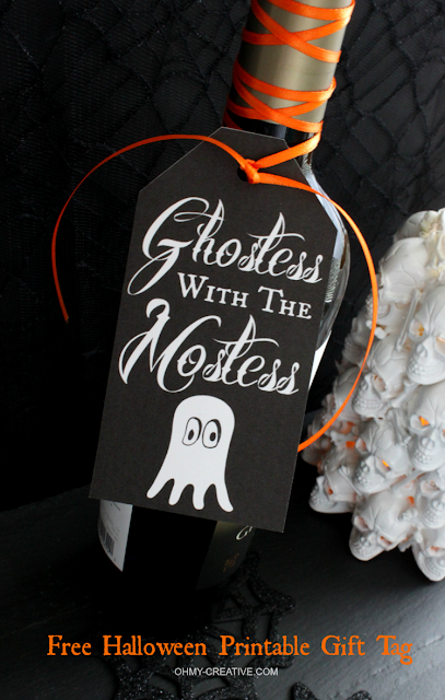 free halloween gift tag hostess gift
