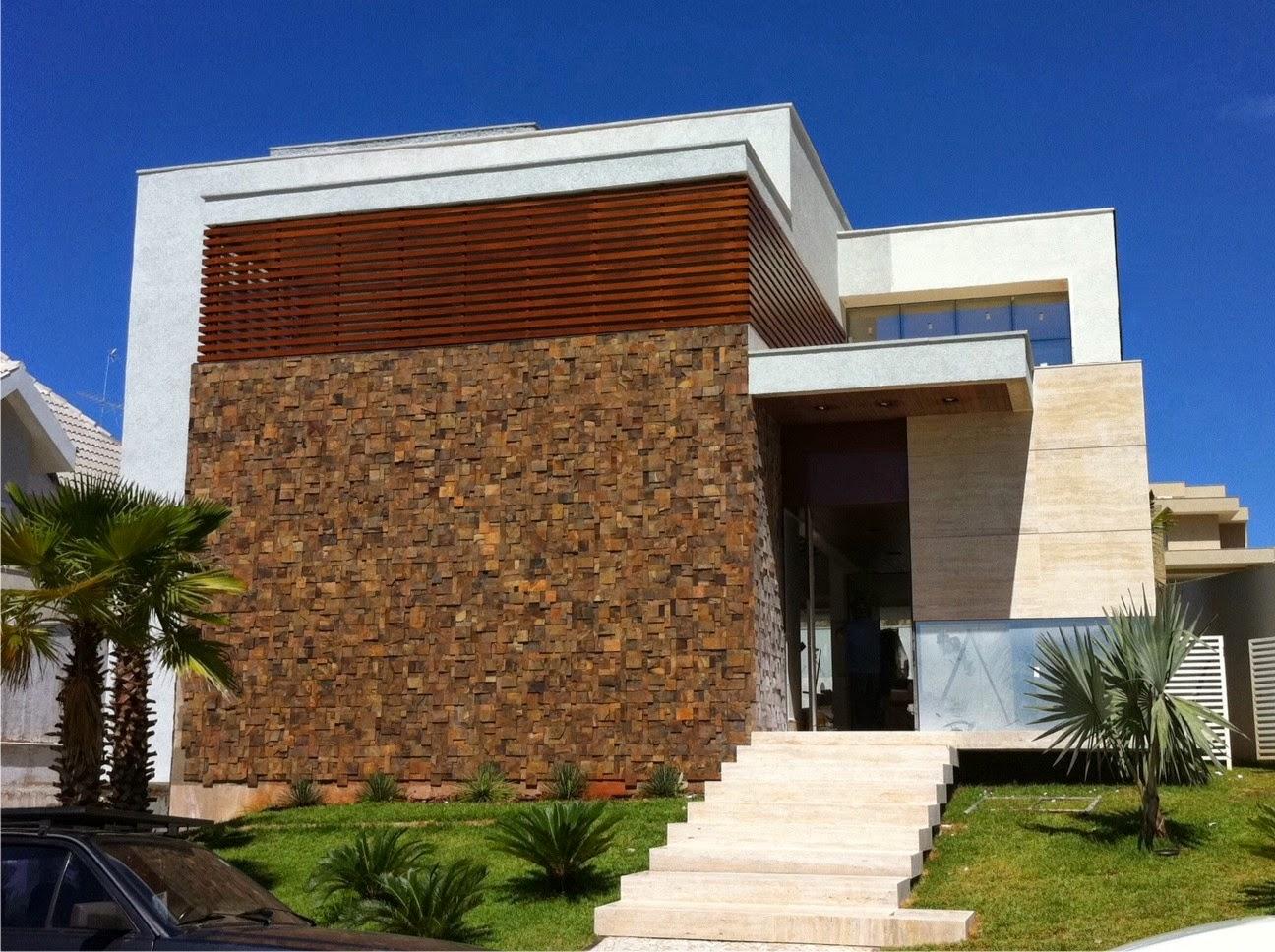 30 fachadas de casas com pedras veja diferentes tipos e - Fachadas de casas andaluzas ...