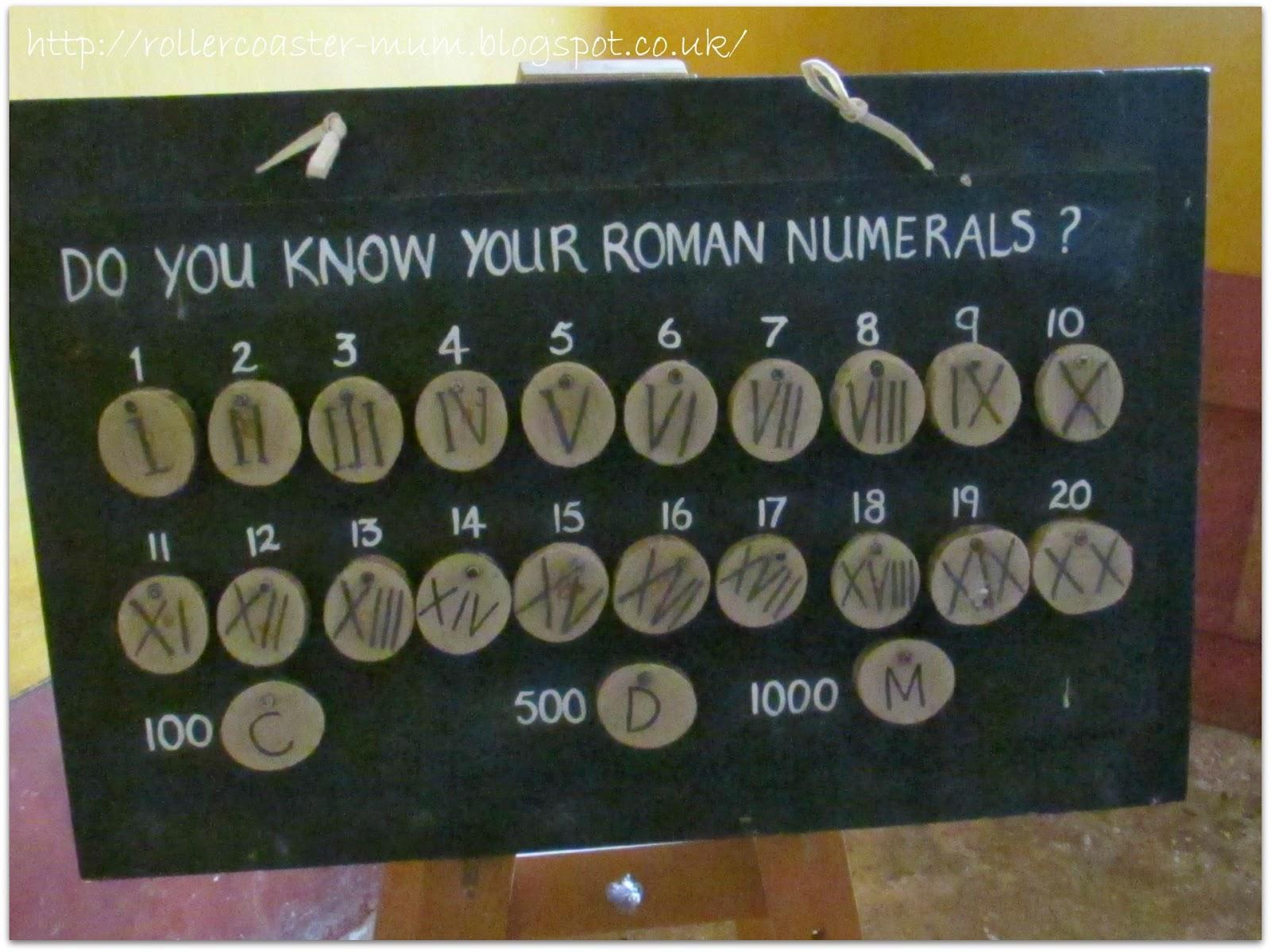 Roman numeral converter, Butser Ancient Farm