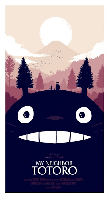 My Neighbor Totoro Standard Edition Screen Print by Olly Moss