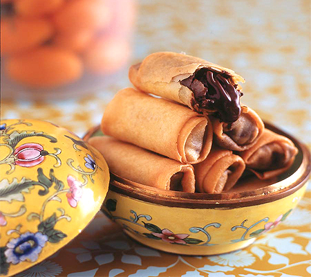 Chocolate Kumquat Spring Rolls Recipes