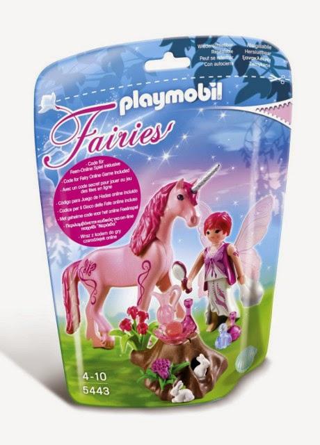 JUGUETES - PLAYMOBIL Fairies : Hadas  5443 Hada Cuidadora con Unicornio Rosas rojas  Producto Oficial | Piezas: 24 | Edad: 4-10 años