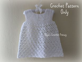 Christening Gown Crochet Pattern, Size 3-6 Months, $3.25
