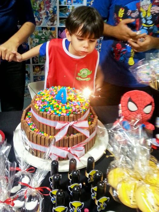 Festa, Heróis, Marvel, Baby, Super, Aniversário Infantil, Brasília, Bolo, Kit Kat, Homem-Aranha, Spiderman