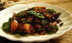 Resep Masakan cumi Cah cabai hijau