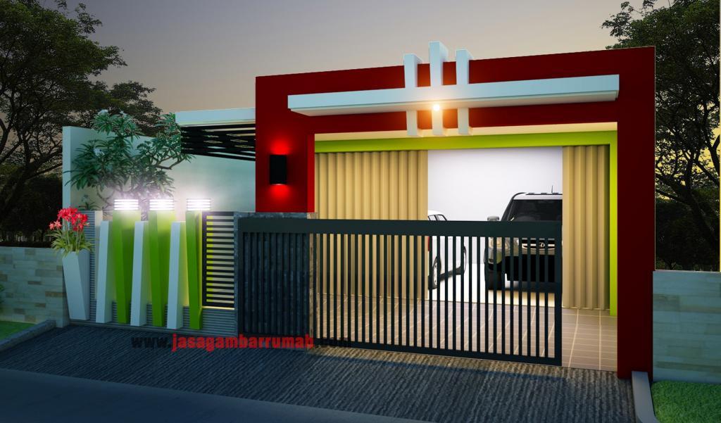 model rumah minimalis ada garasi yang unik dan keren