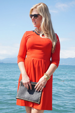 Vacation outfit: red dress