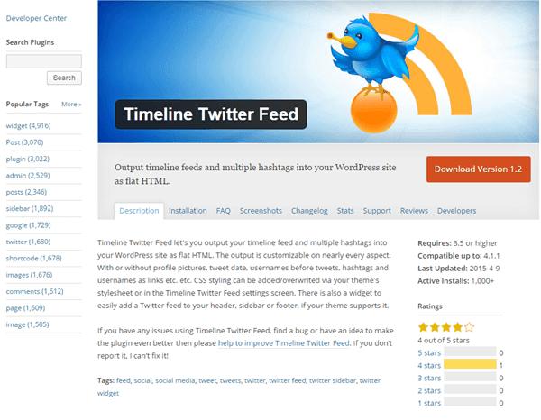 Timeline Twitter Feed