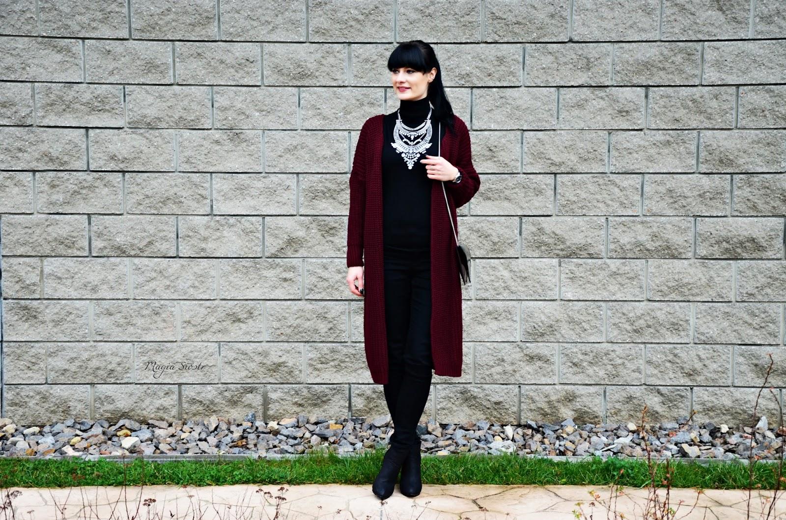 stylizacja, kardigan, blog o modzie, magia sióstr