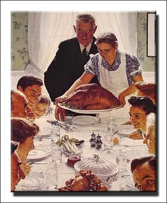 Norman Rockwell, Thanksgiving Dinner, Saturday Evening Post