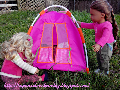 Back in March I was at Target walking threw the toy section (as always) when I came across a tent for the Our Generation Dolls. Since the Our Generation ... & Modern Day Rapunzel: Our Generation Tent Review