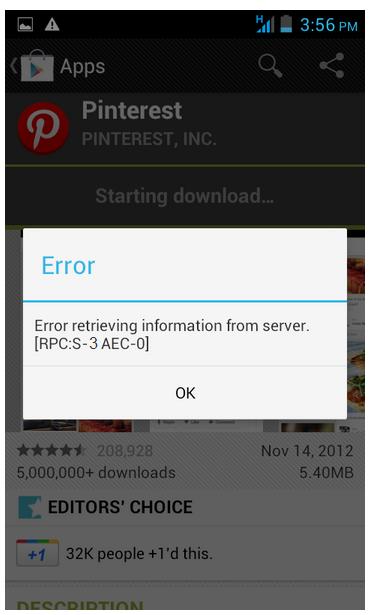 Cara Mengatasi Google Play Error Retrieving information from server