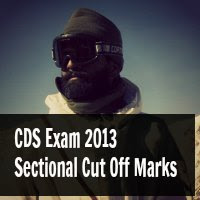 CDS Exam 2013 Sectional Cut Off Marks