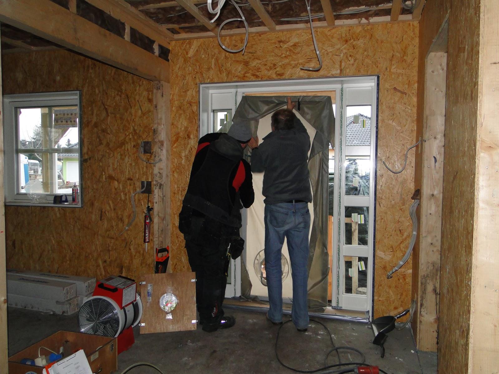 Alex und vreni bauen ein haus tag blower door test