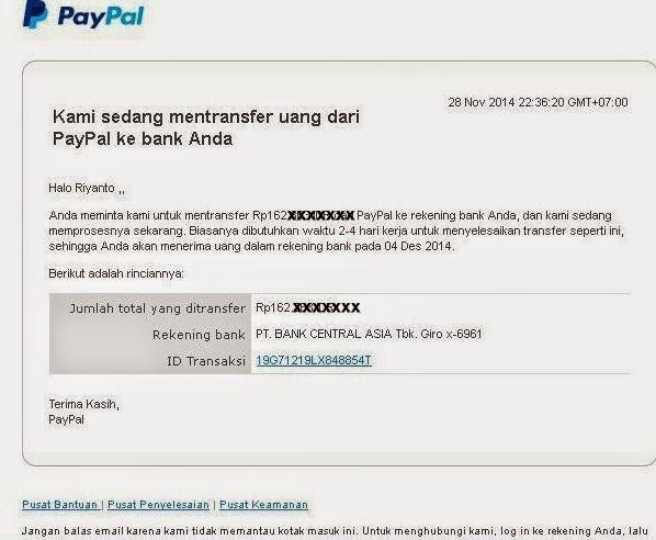 sekarang paypal unverified bisa tarik duit ke bank lokal