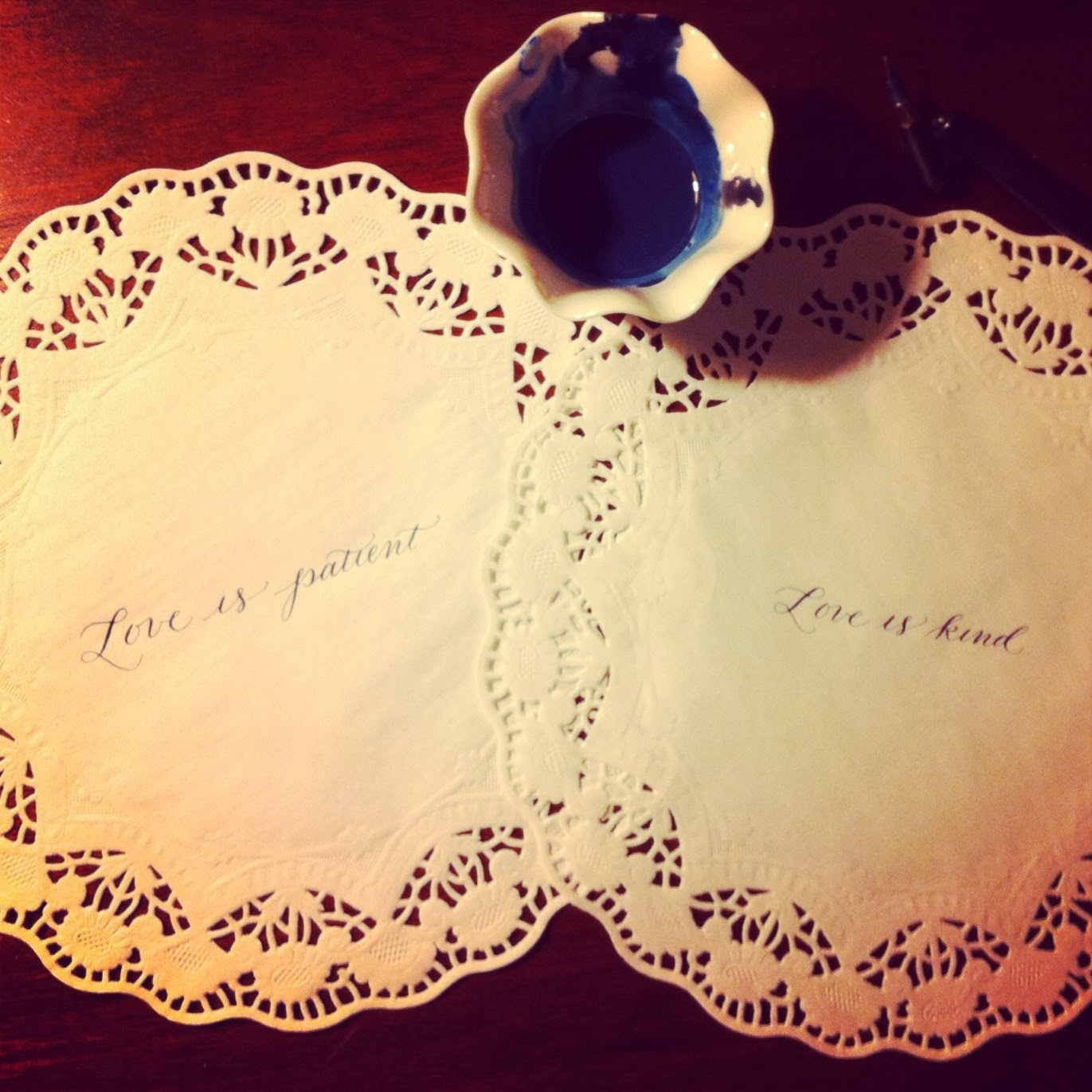 wedding calligraphy first corinthians