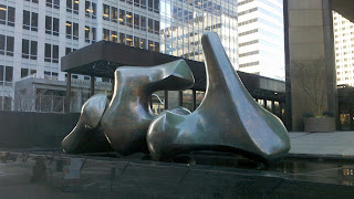 Henry Moore scuplture 'Vertebrae' in Seattle