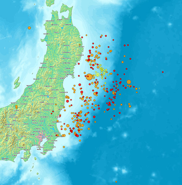 map of japan earthquake 2011. map of japan earthquake 2011.