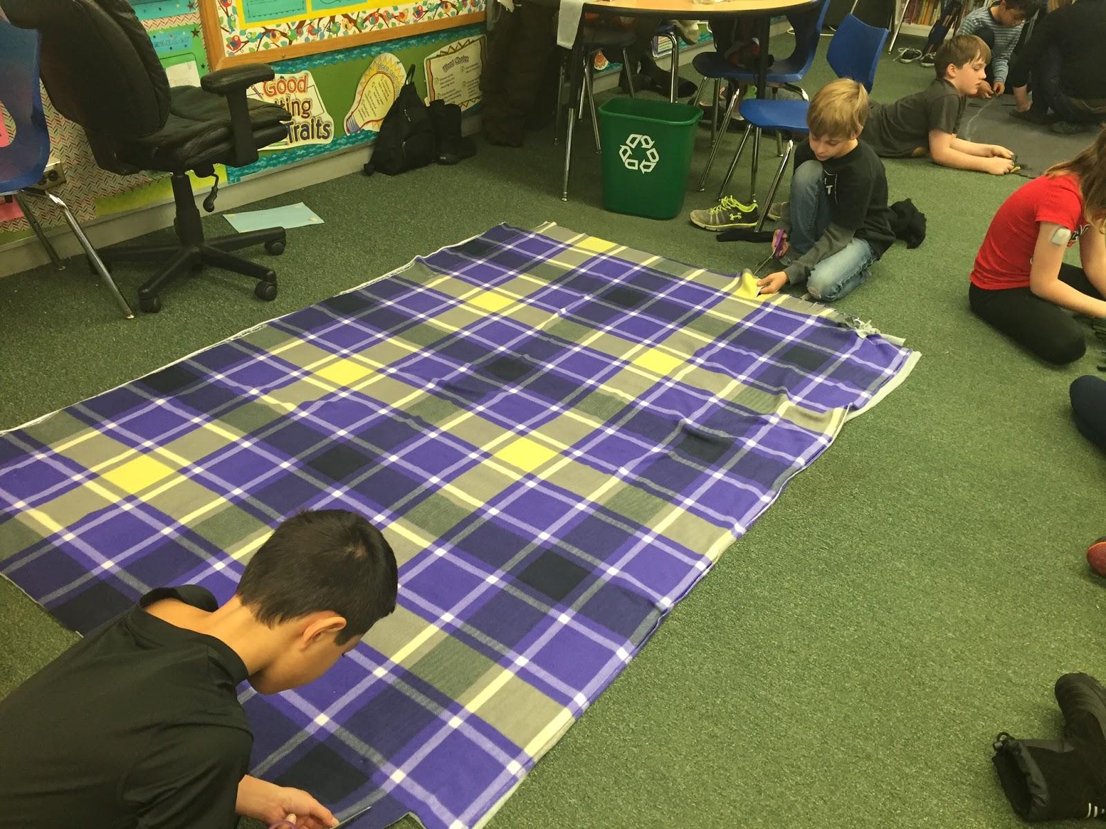 mrs chrystall photos making blankets for the homeless