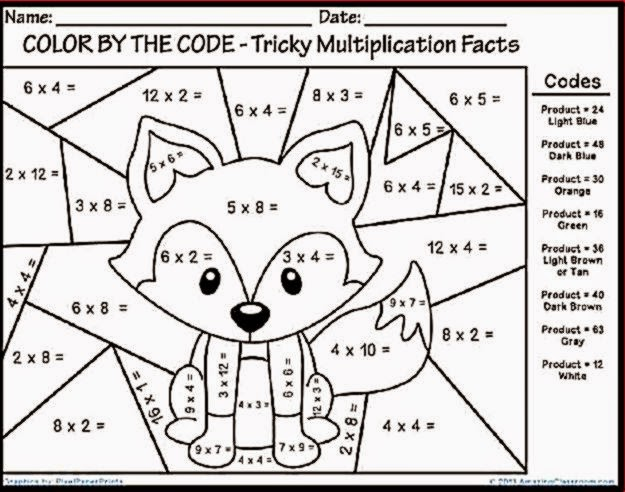 math worksheet : free color by number worksheets multiplication  worksheets : Fun Multiplication Worksheets Grade 4