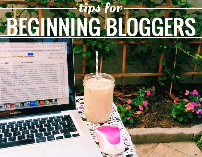 tips for beginning bloggers, blogging, tips, advice, community