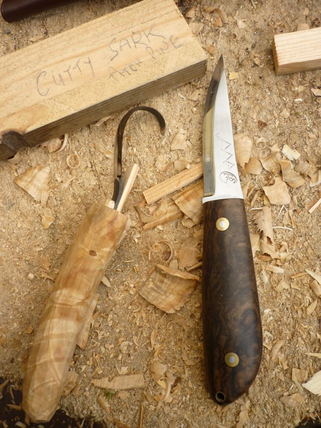 Spoon carving first steps hook knife handle