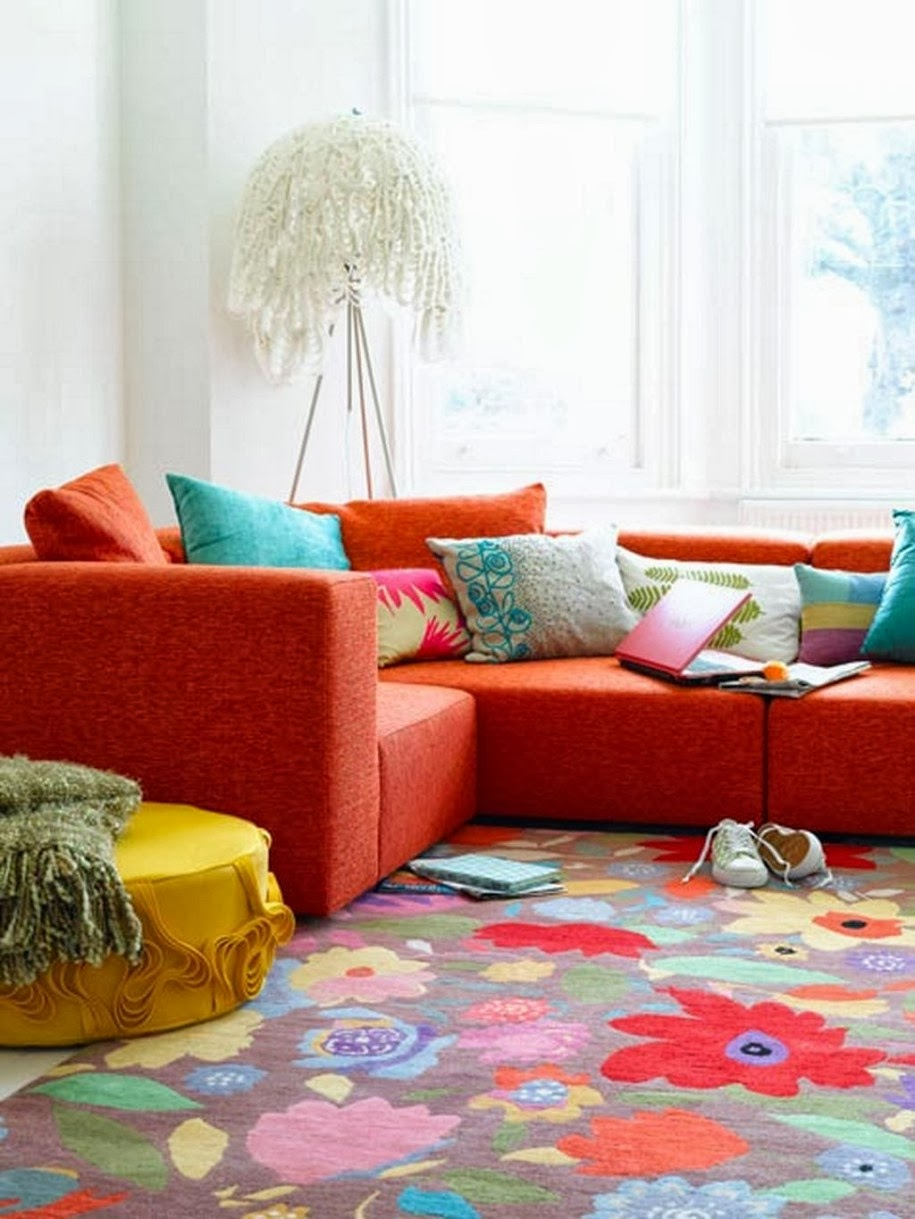 Orange Color Sofa
