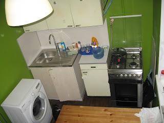 экспериментальная расстановка мебели на кухне - левая сторона