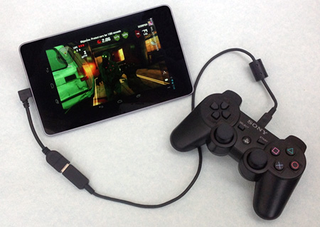 Nexus 7 with PS3 controller
