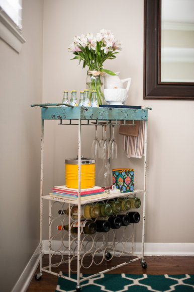 Styling your bar cart is a fun way to impress your guests.